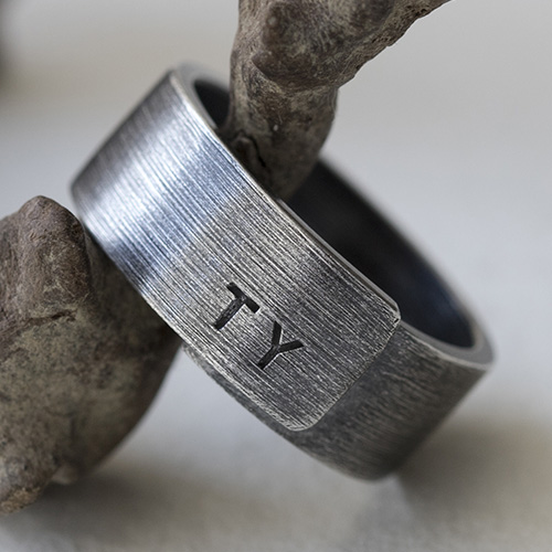 Sterling Silver Personalized Lovers' Ring