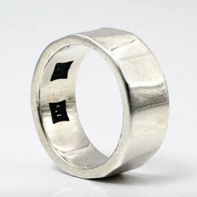 Sterling Silver Sculpted Band Ring