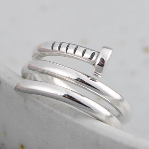 Sterling Silver Nail Wrap Ring
