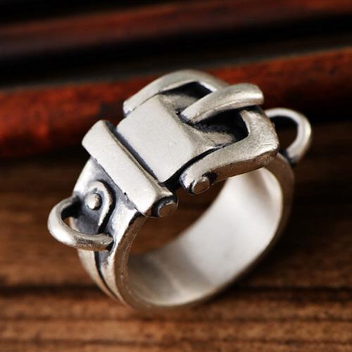 Fine Silver Belt Ring
