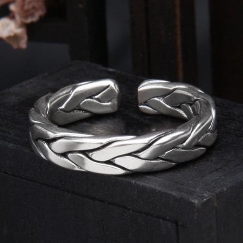 Sterling Silver Braided Pinky Ring