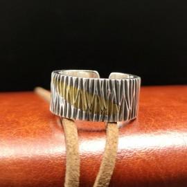 Sterling Silver Bark Pattern Ring