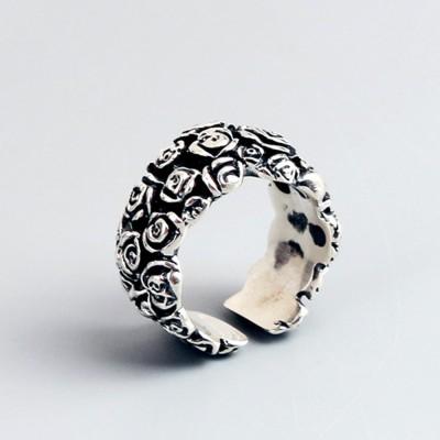 Sterling Silver Dark Roses Ring