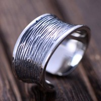 Women's Sterling Silver Streak Wrap Ring