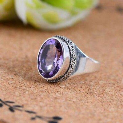Women's Sterling Silver Amethyst Ring