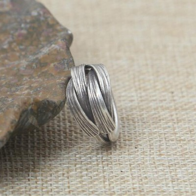 Women's Sterling Silver Handmade Wrap Ring