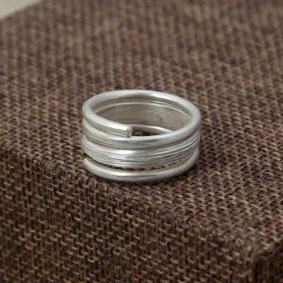 Women's Sterling Silver Wrap Ring