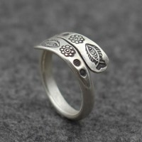 Women's Sterling Silver Fish Wrap Ring