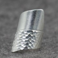 Women's Sterling Silver Hammered Wrap Ring