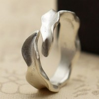 Women's Sterling Silver Wavy Wrap Ring