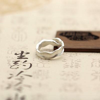 Women's Sterling Silver Wavy Wrap Ring