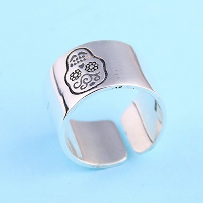 Women's Sterling Silver Sugar Skull Wrap Ring