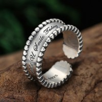 Women's Sterling Silver Lettering Wrap Ring