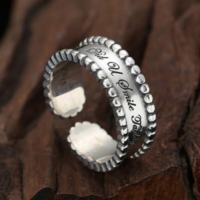 Women's Sterling Silver Lettering Wrap Ring