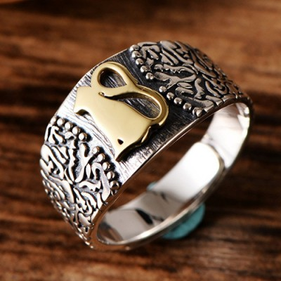 Women's Sterling Silver Cat Ring