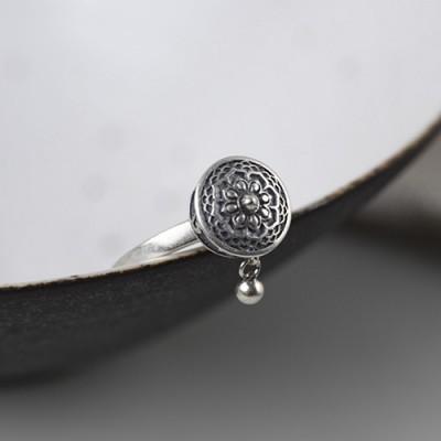 Women's Sterling Silver Prayer Wheel Ring